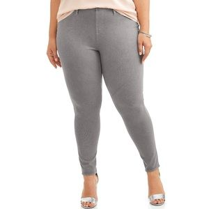 Terra & Sky Grey Jeggings 24/26W
